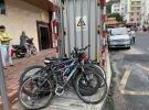 工農路郵政對面報廢自行車