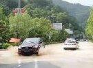 大埔這條路被水淹了
