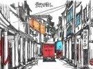 茶阳古镇钢笔画
