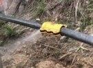 长寿公园水管漏水
