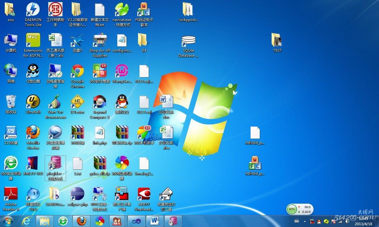 我的工作电脑桌面,有几个图标你认识?图片