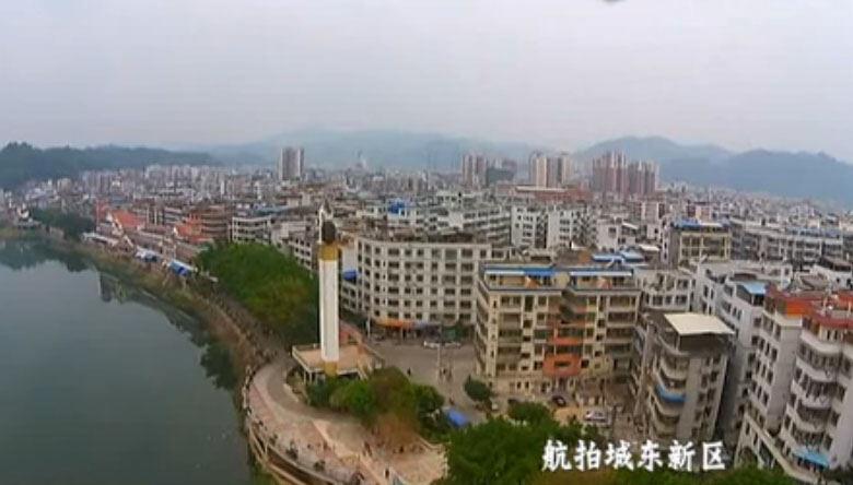 航拍大埔城東新區