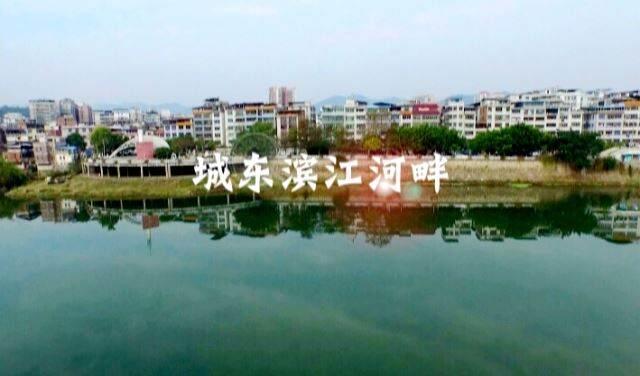 航拍城東濱江河畔