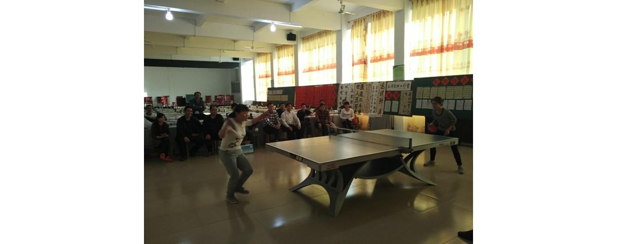高陂中小到桃源中小开展乒乓球交流活动