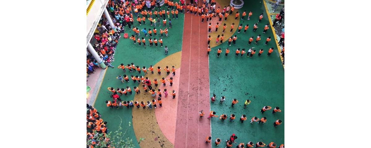 机关幼儿园举行早操观摩活动