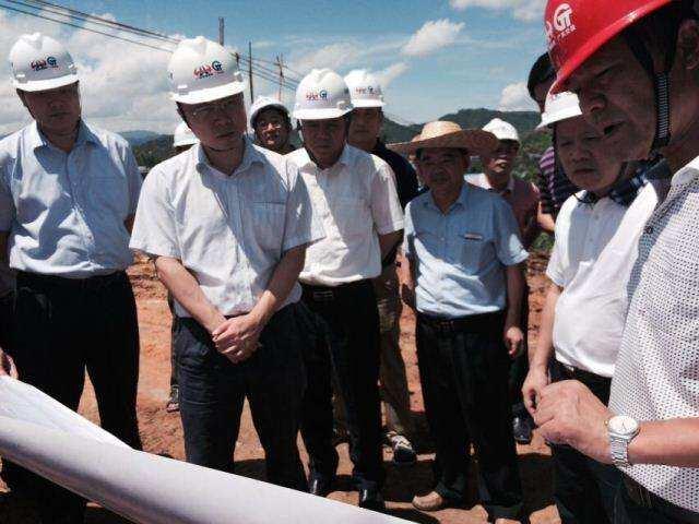 副市长吴泽桐莅埔督导大潮高速公路(含大漳支线)项目建设工作