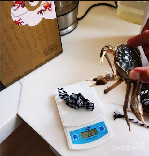 网上买螃蟹,绳子比蟹重